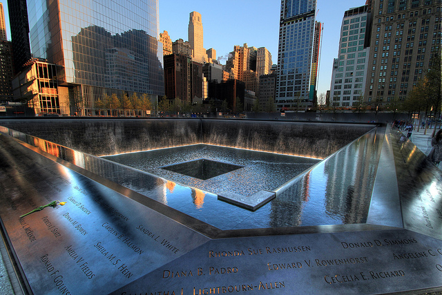 Photo of 9/11 Memorial in Lower Manhattan, New York