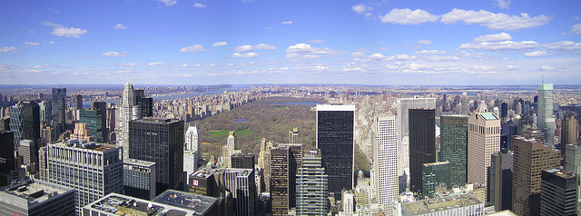 A Photo of Central Park from Top of the Rock, New York