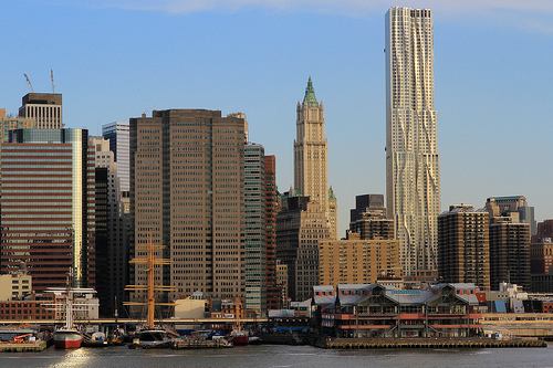 Photo of Pier 17 and Fulton Street Area with New York by Gehry