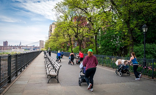 Strollers, Brooklyn Heights, New York City
