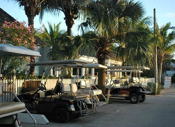Golf Cart, Dunmore Town, Harbour Island, The Bahamas