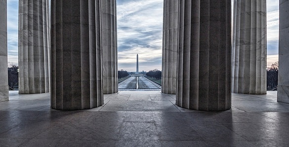 Washington Monument from the Lincoln Memorial, Washington D.C.