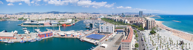 Photo of Port Vell and Barceloneta from Teleférico del Puerto