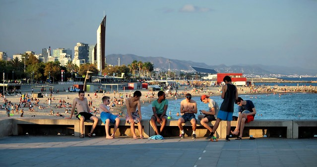 Playa de Bogatell, Barcelona, Spain