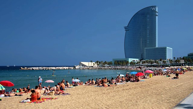 Playa de la Barceloneta, Barcelona, Spain