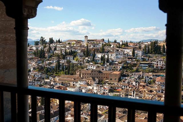 Albayzín from The Alhambra, Granada, Andalusia