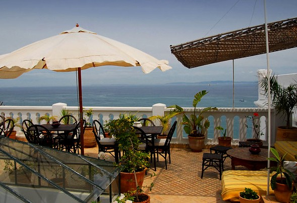 Seaview from the Terrace, La Tangerina, Tanger, Morocco