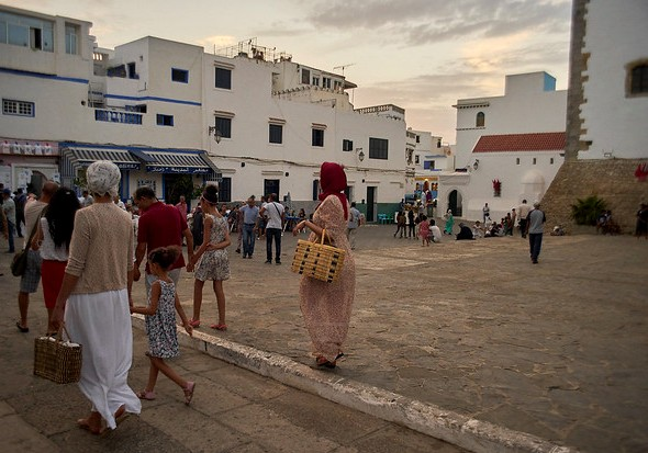 Walking in the Medina, Asilah, Morocco
