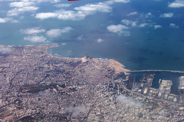 Photo of Casablanca from the Air, Morocco