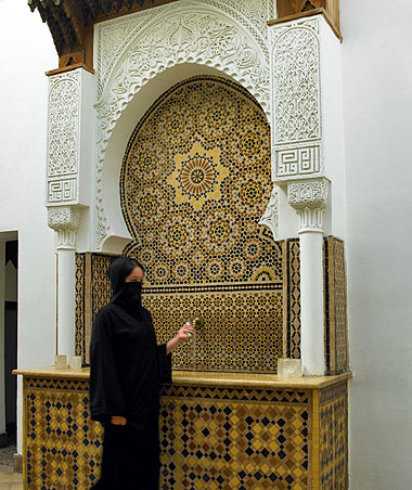Walking in the Medina of Marrakech in Morocco