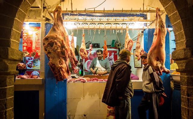 Meat Shop, Medina, Essaouira, Morocco
