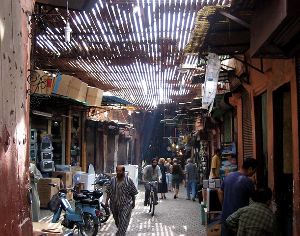 Street in the Souk, Medina, Marrakech, Morocco
