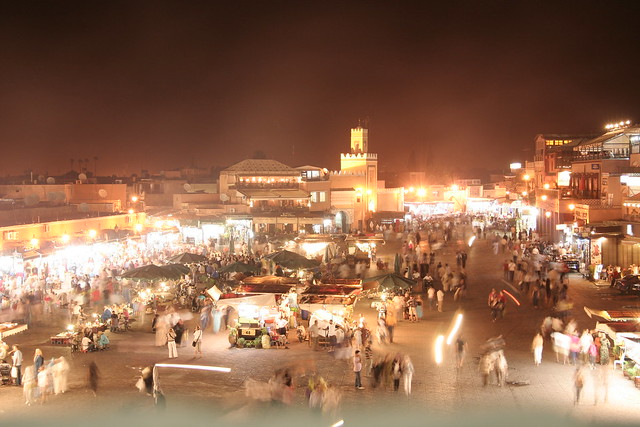 Evening at Jemaa El Fna, Marrakech, Morocco
