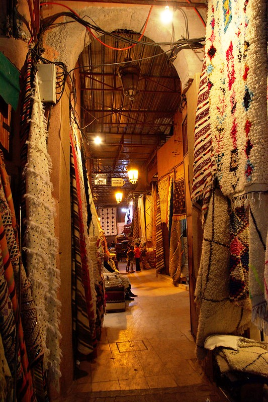 One of the Thousands Shops in the Centre of Marrakech, Morocco