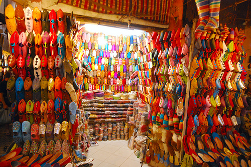 Colorful Shop in the Souk of Marrakech