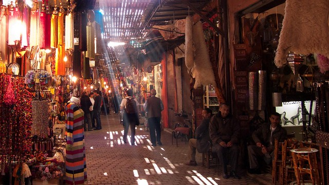 Walking in the Souk, Marrakech, Morocco