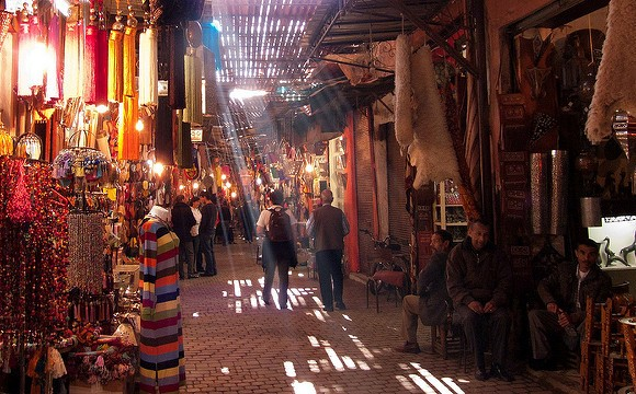 Walking in the Souk of Marrakech