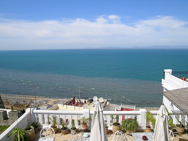 Spain viewed from La Tangerina, Kasbah, Tangier