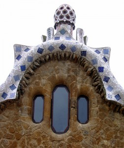A Gaudi house at Guell Park in Barcelona