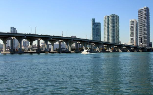 Vista sui Grattacieli a Miami, Florida