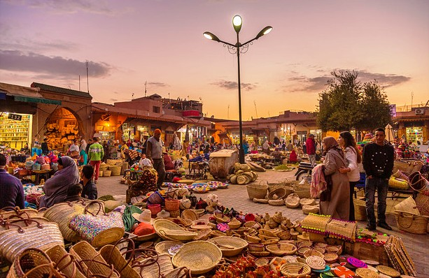 Market in a Street of Marrakech, Morocco