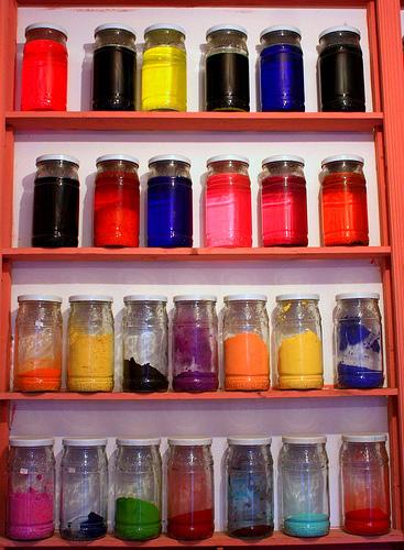 A Pigment Store in Marrakech Medina, Morocco