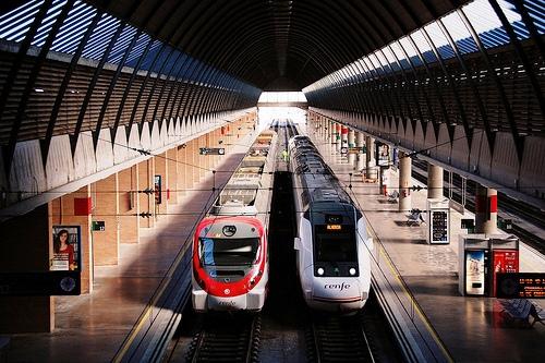 Sevilla Santa Justa Railawy Station, Sevilla, Andalusia, Spain