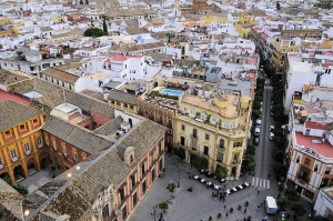 A View of Barrio Santa Cruz from La Giralda, Sevilla