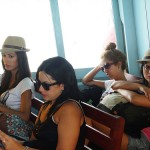 Girls Aboard Haadrin Queen Ferry to Koh Phangan