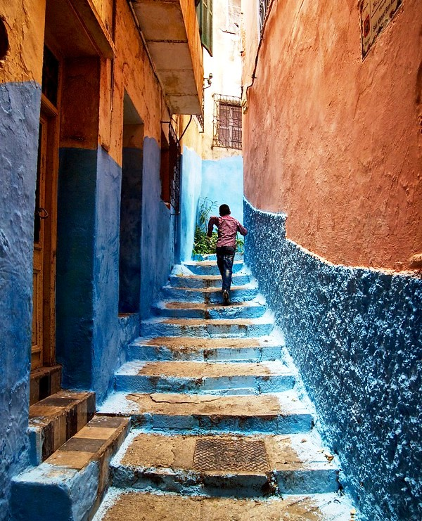 Alley in the Old Medina, Tangier, Morocco