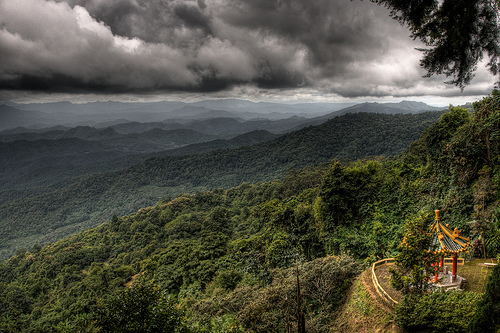On the way from Chiang Mai to the nearby Doi Suthep, Thailand