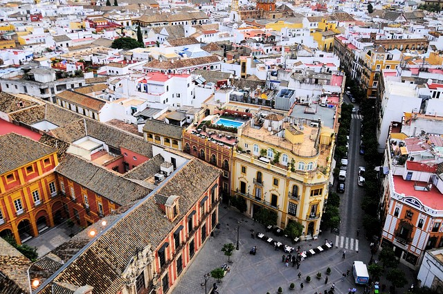 Barrio de Santa Cruz from La Giralda, Sevilla, Andalusia, Spain