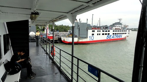 Seatran Ferry at Donsak Pier, near Surat Thani, Thailand