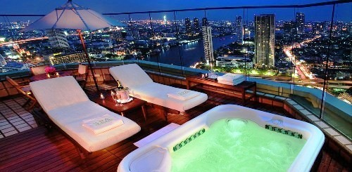 Outdoor Jacuzzi, The Grand Terrace Suite at The Peninsula Bangkok