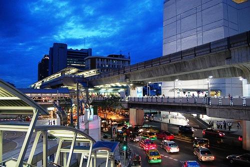 Siam Square MBK Station, BTS Skytrain, Bangkok