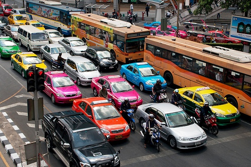 Bus and Taxis in Bangkok