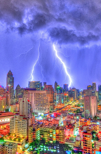 Lightning Bolts on Sukhumvit, Bangkok