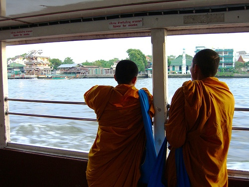 Space for Monks, Chao Phraya Express Boat, Bangkok