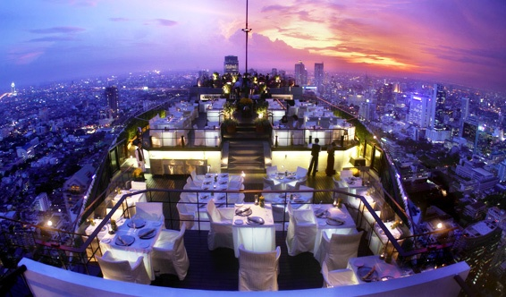 Impressive Vertigo and Moon Bar at Banyan Tree Hotel in Bangkok