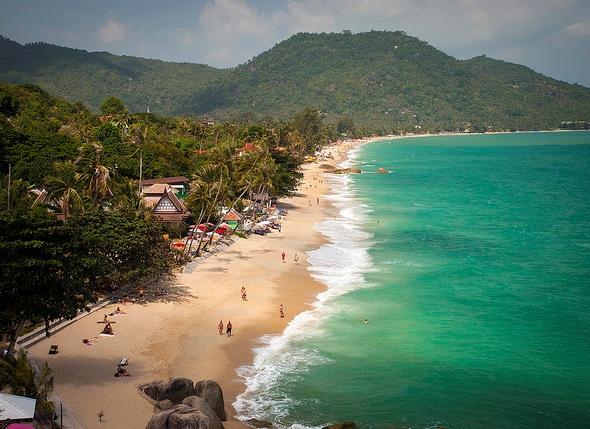 Lamai Beach Panorama, Koh Samui, Thailand