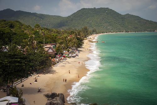 Panorama of Lamai Beach in Koh Samui in Thailand