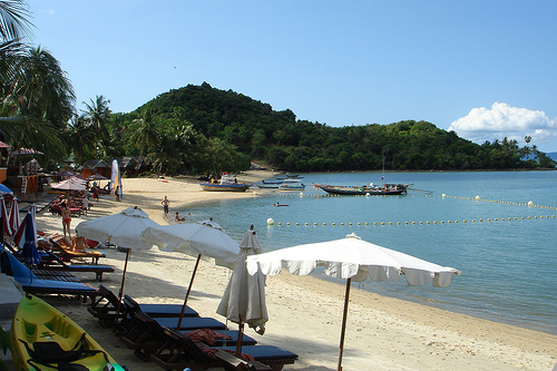The Northern End of Bophut Beach in Koh Samui