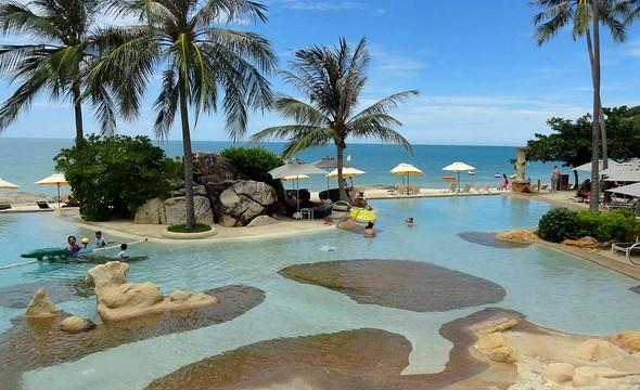 Chaweng Noi Beach from Sheraton Samui, Koh Samui, Thailand