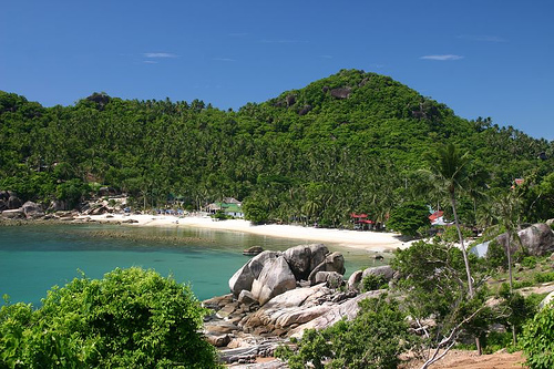 Beach at Crystal Bay in Koh Samui, Thailand
