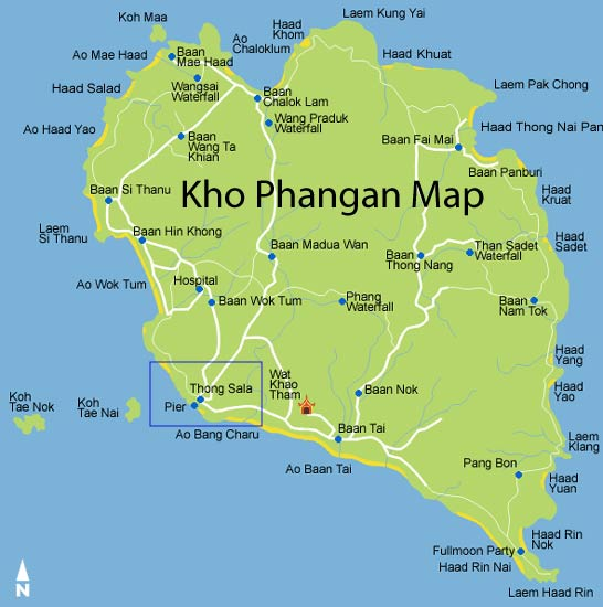 Map of Koh Phangan