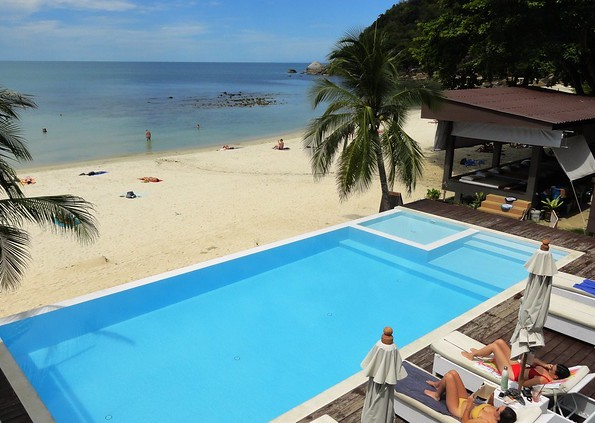 Crystal Bay Beach (Thong Ta Kian) from Silver Beach Resort, Koh Samui, Thailand
