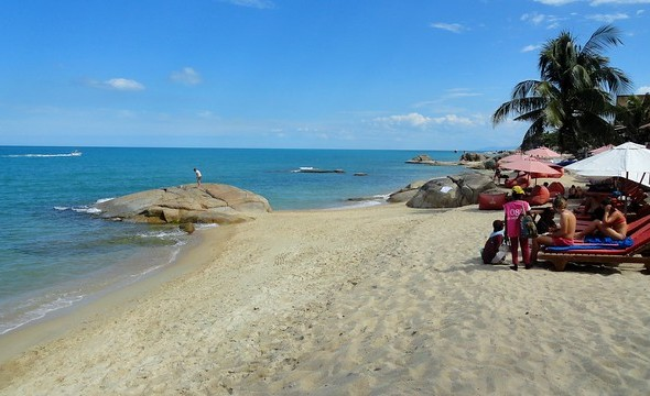 Lamai Beach. southern section, Koh Samui, Thailand