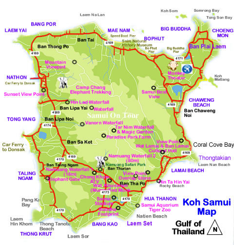 The Map of Koh Samui