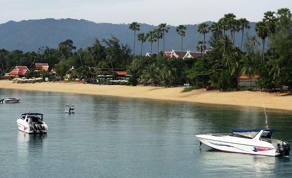 Maenam Beach, central section, Koh Samui, Thailand