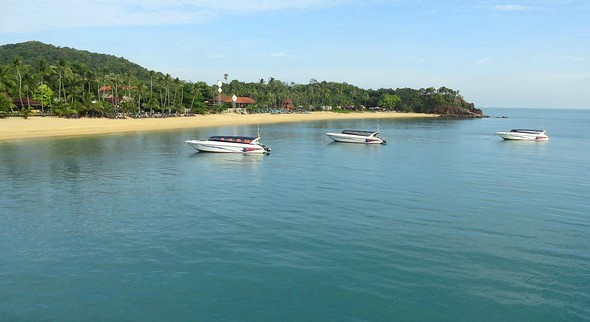 Maenam Beach, western end section, Koh Samui, Thailand